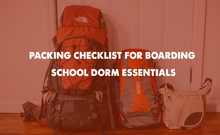 packing Checklist for Boarding School Dorm Essentials ffor girls