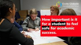 How important is it for a student to feel safe for academic success