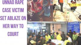 Unnao rape case victim set ablaze on her way to court