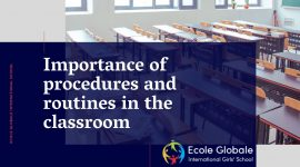 Importance of procedures and routines in the classroom