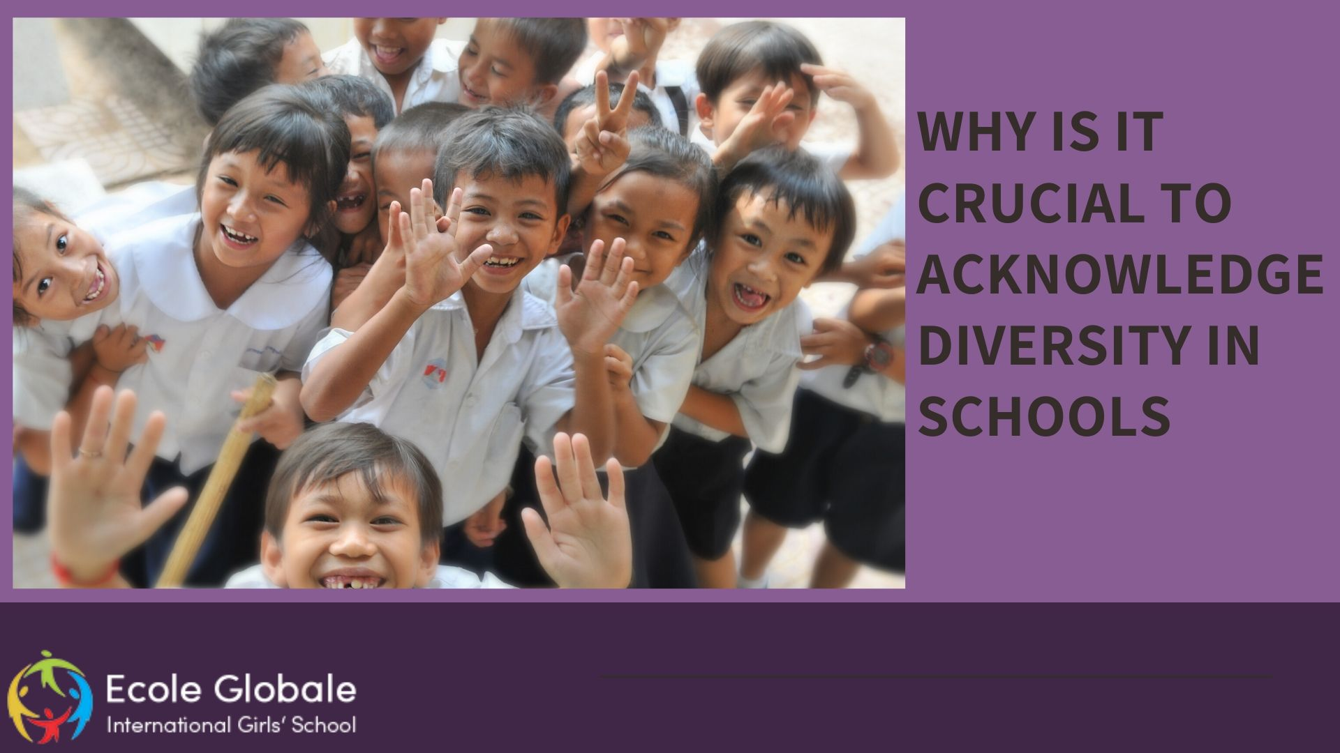 Why is it crucial to acknowledge diversity in schools