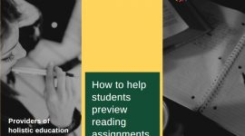 How to help students preview reading assignments