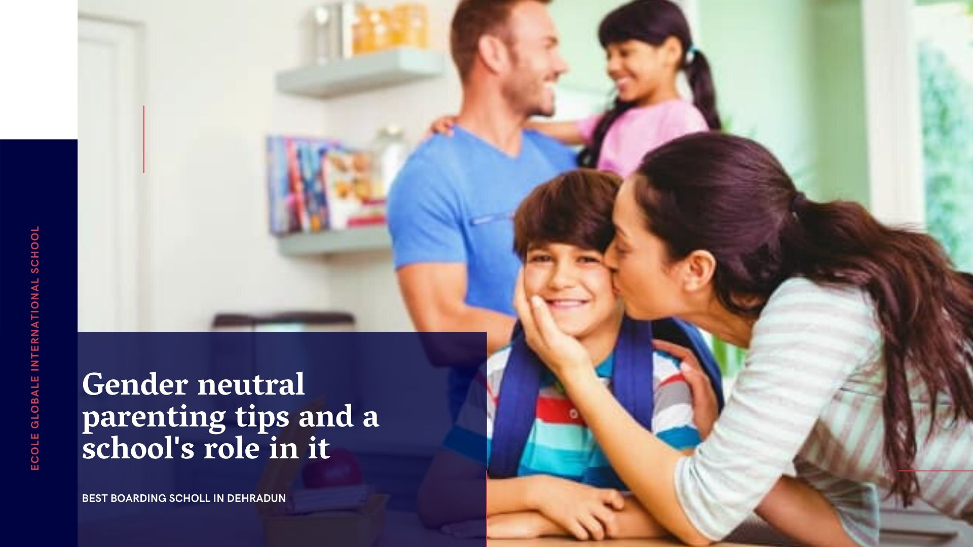 Gender neutral parenting tips and a school's role in it