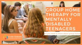 Group home therapy for mentally disabled teenagers