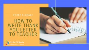 How to write thank you letter to teacher