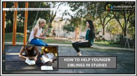 How to help younger sibling in studies