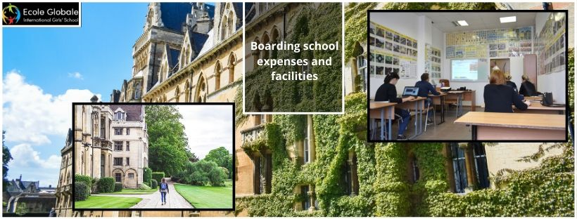 Boarding school expenses and facilities