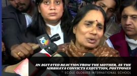 AN AGITATED REACTION FROM THE MOTHER, AS THE NIRBHAYA CONVICTS EXECUTION, POSTPONES