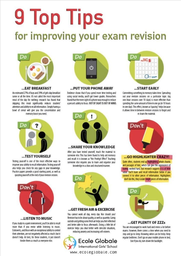 9 TOP TIPS FOR IMPROVING YOUR EXAM REVISION