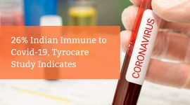 26% Indians Immune to Covid-19, Thyrocare Study Indicates