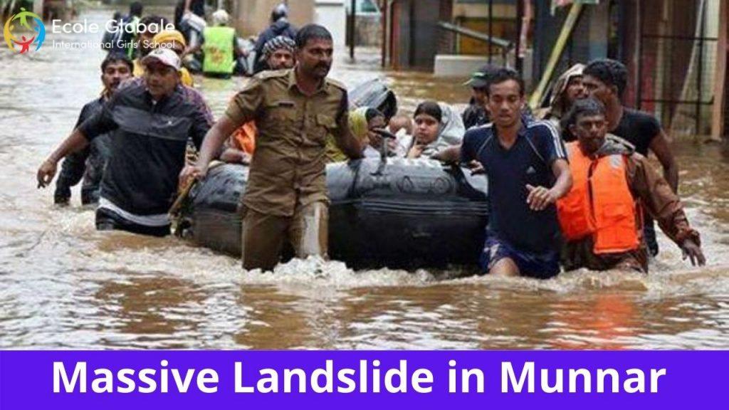 massive landslide in Munnar