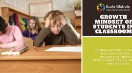 Growth mindset of students in classroom