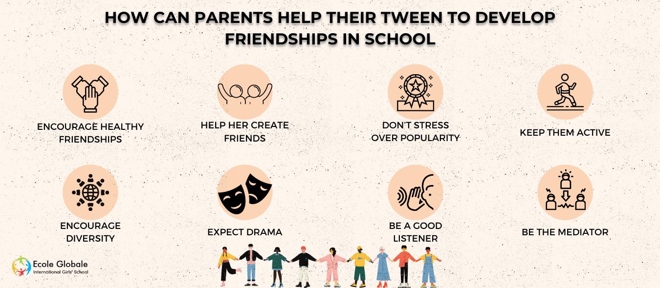 How Can Parents Help Their Tween To Develop Friendships In School