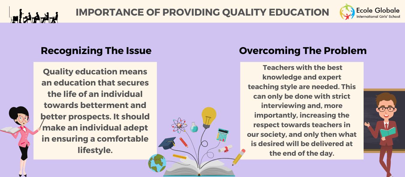 Importance Of Providing Quality Education