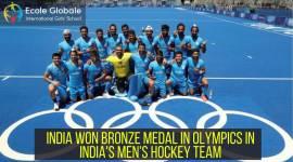 INDIA WON BRONZE MEDAL IN OLYMPICS IN INDIA'S MEN'S HOCKEY TEAM